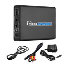 Hdmi to 3Rca Av Cvbs Composite & S-Video R/L Audio Converter Adapter Downscaler