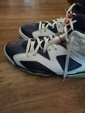 "2012 Retro Air Jordan 6 VII ""Olympic"" Size 14 VARSITY RED MIDNIGHT NAVY WHITE"