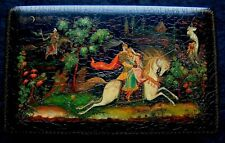 Russian hand painted lacquer box from Palekh. Very beautiful box! Author's work