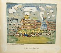 Raoul Dufy Print Track at Ascot Printed USA 3805 New York Graphic Society~Horses