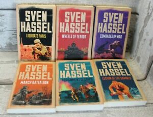 6 x Books by Sven Hassel. All Paperbacks. Condition like New