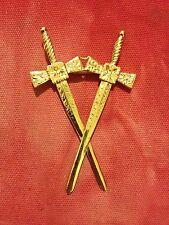 Franc-Maçonnerie bijou symbolique métal doré - Masonic jewel