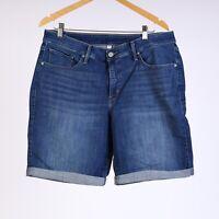 Levi's Bermuda Damen Übergröße jeanshorts 18W