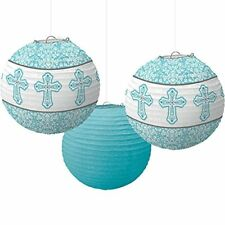 Amscan International Guirlande de Lanternes en Papier Bleu