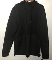 Hoodie Long Sleeve Apana Active Lifestyle Men's Hoodie Size L Black