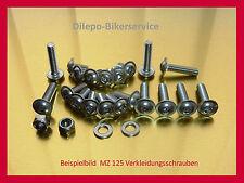 MZ125 SX SM - V2a Edelstahlschrauben Schraubensatz Verkleidung Schrauben MZ 125
