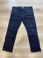 Hugo Boss Green Label 50315098 Slim JC-DELAWARE1 Dark Wash Blue Jeans W34 L26