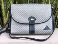 Vintage Liz Claiborne Purse Handbag Navy Blue Triangle Logo Cross Body Bag 80s