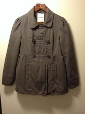 Women's Aeropostale Gray Double Breasted Coat Mid Length Lined Size Medium