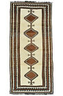 Vintage Tribal Oriental Gabbeh Runner, 4'x8', Hand-Knotted Wool Pile