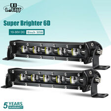 "8"" Inch 6D Led Light Bar 300W Spot Flood Combo Led Beam for 4X4 Suv Truck 10-30V"