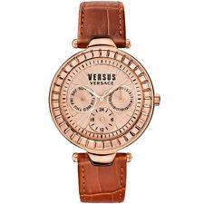 Versace Versus | Rosa Oro | Mujer Cuero Reloj | sertie | RRP £ 300