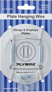 """Plymor Stainless Steel Wall Mountable Plate Hanger, 3.125"""" H x 1.75"""" W x .5"""" D"""