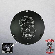 Kupplungsdeckel Derby Cover schwarz Struktur für Harley Davidson Sportster 48