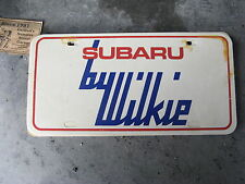 WILKIE SUBARU PHILADELPHIA PA DEALERSHIP DEALER BOOSTER LICENSE PLATE