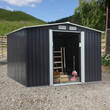 8 x 8 Ft Outdoor Garden Storage Shed Sliding Door Backyard Steel Tool House