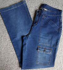 VGUC Ruff Hewn Stretch Jeans..Flap Back Pockets (28 X 30)  Pockets on Legs  Sz 6