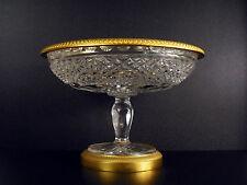 Belle coupe à fruit en cristal & bronze doré gilded Fruits cup in crystal 1,6 kg