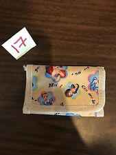 Disney Princess Child's Kids Tri-Fold Mini Velcro Wallet EUC