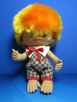 "Rare Vintage 1965 MONKEY BOY - 8"" Unica Troll Doll - Made In Belgium - EXCELLENT"