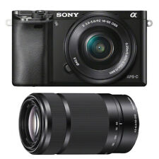 Sony Alpha a6000 Mirrorless Camera with Power Zoom 16-50mm + 55-210mm Lenses Kit