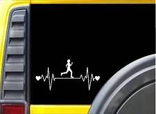 "Running Girl Lifeline J778 8"" Sticker runner decal marathon 26.2"