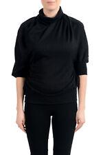 Gianfranco Ferre Women's Black Cashmere Silk Sweater Top US s IT 40