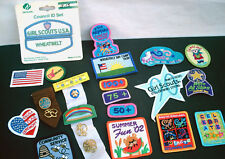 VINTAGE!! Lot Of 25 GIRL SCOUT PATCHES Pins Badges Camp Cookies GS USA Wheatbelt
