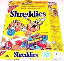 1993 Nabisco Shreddies James Bond jr Cereal Box shred1
