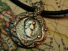 Roman Rebublic Denarius Sterling Silver Pendent