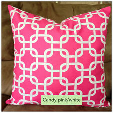 GOTCHA CHAIN LINK MANY SIZES & COLORS DECORATIVE THROW PILLOW CASE/CUSHION COVER