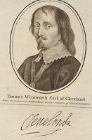 C1789 Georgianisch Aufdruck ~ Thomas Wentworth Earl Von Cleveland ~ Faksimile