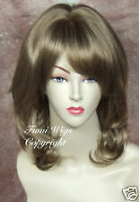 Silky Touch Layered Loose Wavy Wig In Light Golden Brown / Great Fibre & Quality