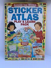 Vintage Around the World Sticker Atlas Learn and Play Pack.