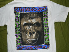 Hanes Beefy Vintage T-Shirt S San Diego Zoo California Single Stitch Gorilla USA