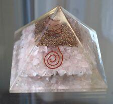 Orgonite Pyramid Rose Quartz Crystal Natural Gemstone Love Peace Ideal Gift