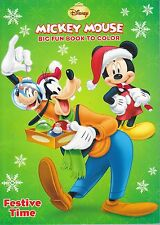 New Mickey Mouse Christmas Coloring Book ~ Festive Time ~ FREE SHIPPING