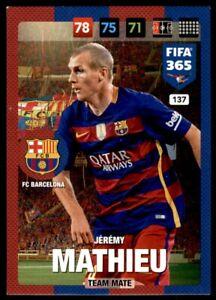 Panini 365 Adrenalyn XL (2017) Jeremy Mathieu FC Barcelona  No. 137