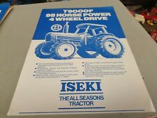 1980s ? ISEKI T9000F 4WD  Tractor New Zealand  Sales Leaflet