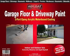 AdCoat Garage Floor & Driveway Paint - Waterbased 2-Part Epoxy, 1 g. kit, grey