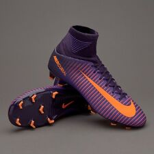 Junior Nike Mercurial Superfly V FG Football Purple Orange Uk Sz 5.5 831943-585