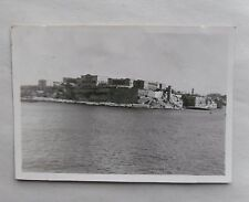 1946 B/W Photograph. View of Valletta, Malta #2. Taken from Troop Carrier Ship