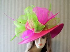 Kentucky Derby Hat, Hot Pink Hat, Ascot Hat, Preakness Hat, Belmont, Bridal Hat