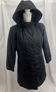 Eddie Bauer WeatherEdge Womens Insulated Coat Petite Medium Removable Hood Black