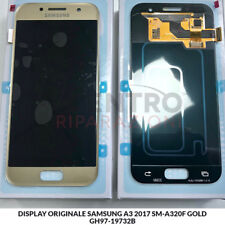 DISPLAY LCD TOUCH SCREEN ORIGINALE SAMSUNG GALAXY A3 2017 SM-A320F GOLD ORO