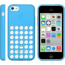 Original Genuine Apple iPhone 5C Silicone Dot Case - Blue MF035ZM/A