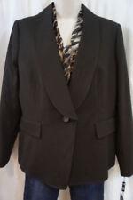 Tailleur e abiti sartoriali da donna in viscosa di marrone della giacca