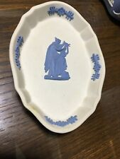 Rare Wedgwood Jasper Blue & White Reverse Oval Pin Tray Collector'S Society
