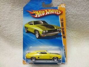 FORD FALCON XB YELLOW CARD 48/214 HOT WHEELS LONG CARD 2010 1:64 SCALE