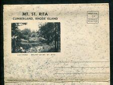 Mt St. Rita Cumberland Rhode Island ri Lily Pont Belfry postcard folder foldout